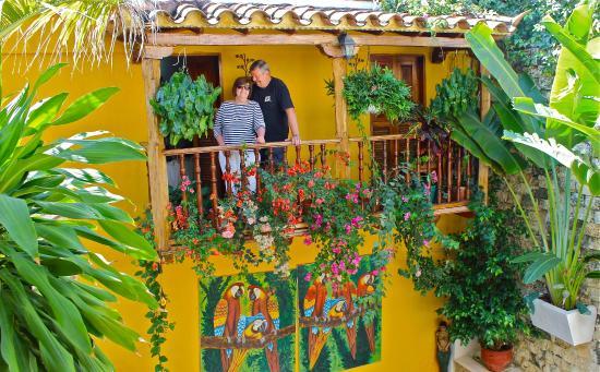 Hotel Casa Gloria: My parents on their bedroom balcony