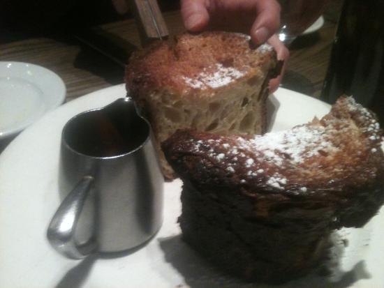 Landmarc: French toast loaf cut in half.