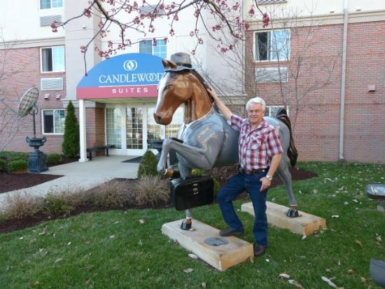 Candlewood Suites Louisville Airport: The Horse Statue Outside