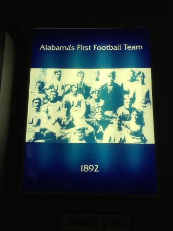 Alabama Sports Hall of Fame and Museum: Alabama first football team 1892