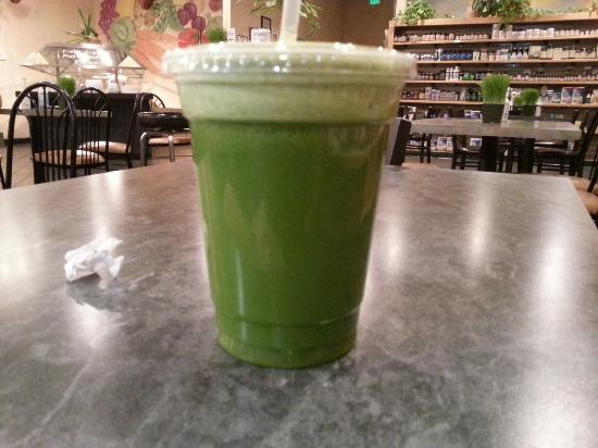 Go Raw Cafe : Green Zing juice