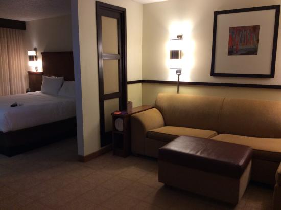 Hyatt Place Indianapolis Airport: entry/living room/ bedroom