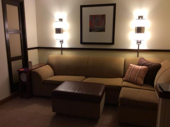 Hyatt Place Indianapolis Airport: entry / living room