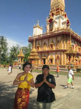 Chaithararam Temple (Wat Chalong): With Thailand Girl at Wat Chalong Temple