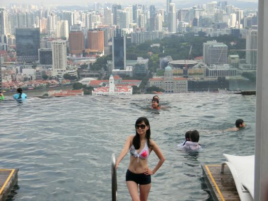 infinity poolonce in a life time Picture of Marina Bay Sands