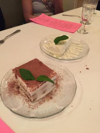 Osteria: Tiramisu and Lemon Cheesecake