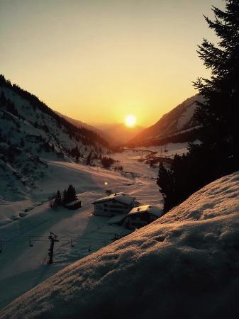 Hubertushof: Sonnen Untergang