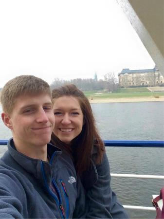 Schiffsanlegestelle Dresden: the upper level of the boat, best for warm weather!