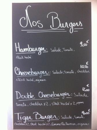 Le Tigre : Ou un hamburger !!!