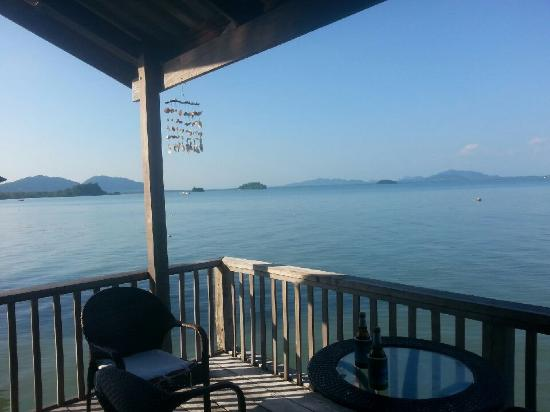 Mango Guesthouse + Villas: View of balcony overlooking islands and water