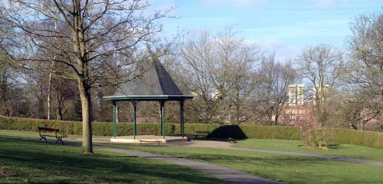 Stockport, UK: The bandstand