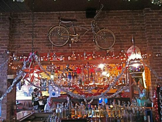 Mezcal: The tricked-out chromed bike dominates the well-stocked bar