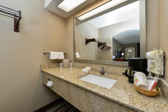 Super 8 by Wyndham Clarksville Northeast: Bathroom