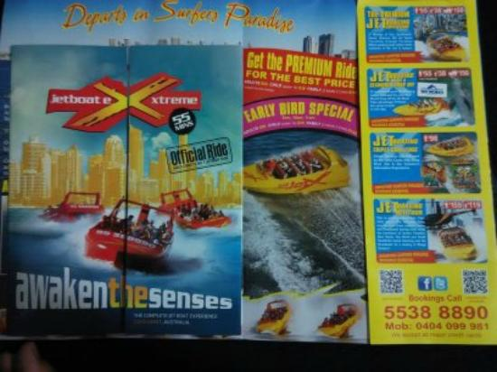 Jetboat Extreme: The brochures