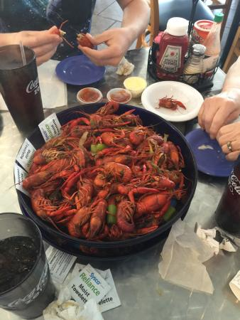 Peck S Seafood Restaurant Boiled Crawfish In Season Excellent