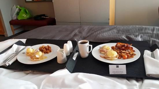 Breakfast In Bed Picture Of Brookstreet Hotel Ottawa Tripadvisor