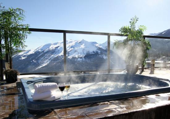 Whistlers Inn : Outdoor, Rooftop Hot Tubs