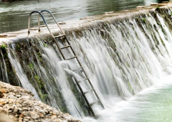 Ladder access to the river beware it s flowing for Blanco state park fishing