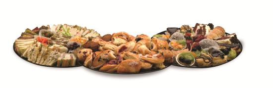 Manna European Bakery & Deli: A sample of our catering services. Visit our website for more offerings.