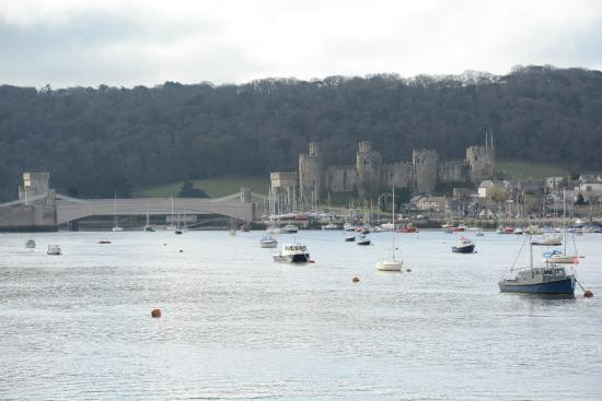 Conwy Castle from The Quay Hotel
