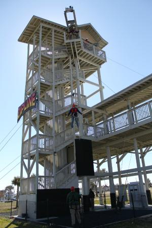 Free Fall At The Myrtle Beach Zipline Adventures