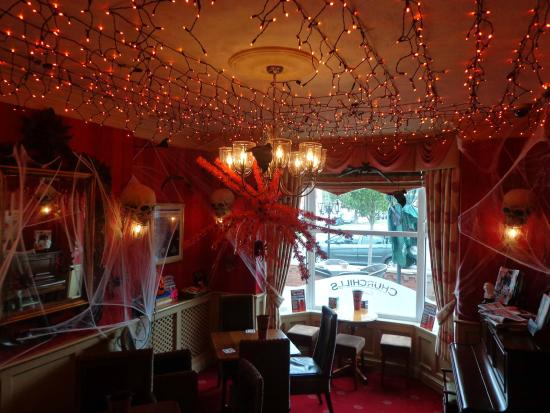 Restaurant Halloween Decor : Churchills sports and wine bar picture of
