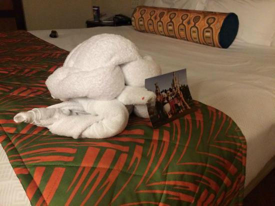 disneys caribbean beach resort turtle towel pet happy new year card from mickey and