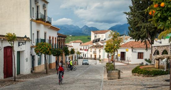 Andalucian Cycling Experience Day Trips: The main street of Montecorto pre ride