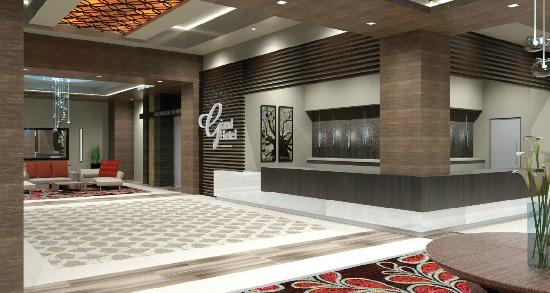 Coushatta Grand Hotel: Front Desk and Lobby Area