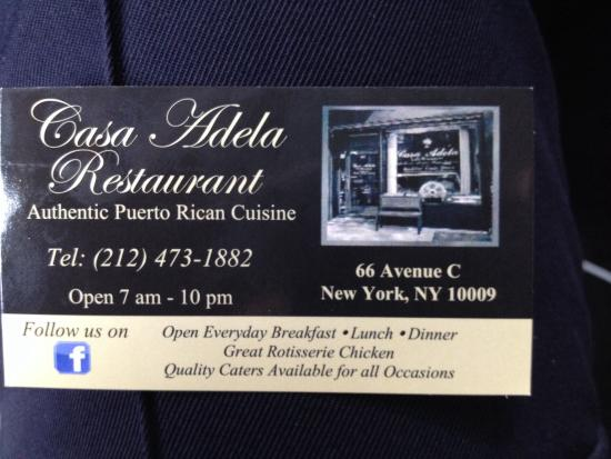 Photo of Caribbean Restaurant Casa Adela Cafe Restaurant at 66 Avenue C, New York, NY 10009, United States