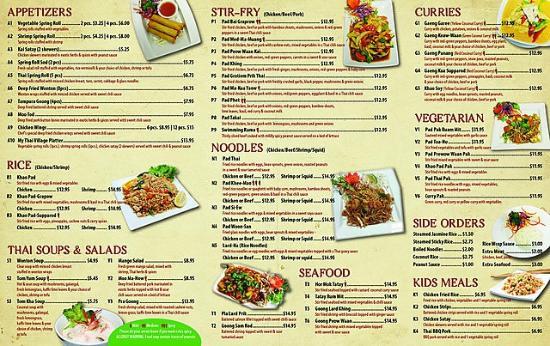 Great Thai Cafe Menu