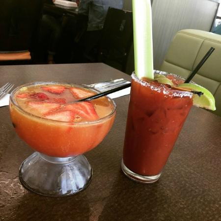 Strawberry Mimosa and House Bloody Mary