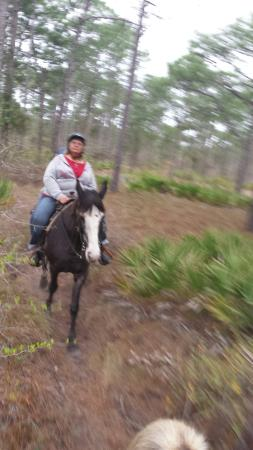 Arnett's Gulfside Trail Rides: Sandi and Dede