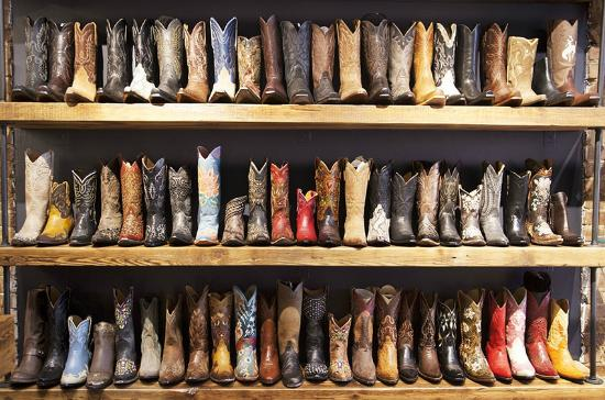 Wall of Boots at our Shop. (Partial wall that is)! - Picture of ...