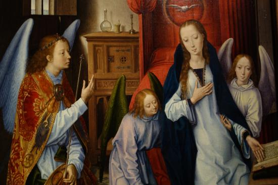Hans Memling The Annunciation Detail Picture Of The