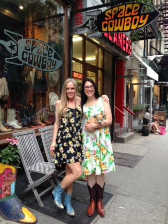 Cowgirls in Sundress. New York City Cowgirls having fun shopping ...