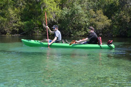 Kids kayaking the rainbow river picture of k p hole county park