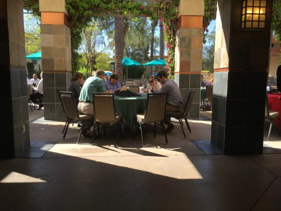 Hilton Scottsdale Resort & Villas: The group working outside