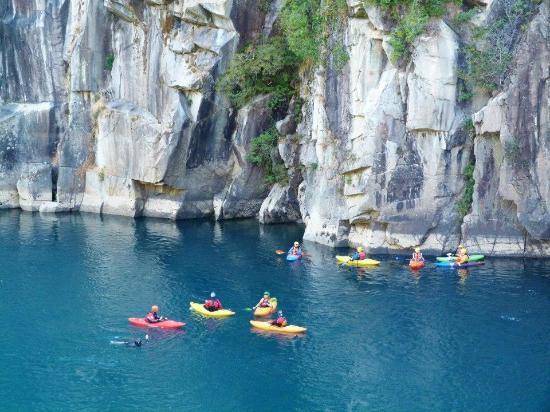 Futaleufu River Bio Bio Expeditions Camp: Kayak lesson on the Futaleufu