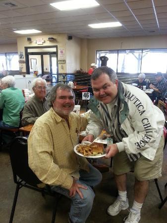 Danken Trail B-B-Q: Enjoying a FEAST with My Identical Twin Brother (L)