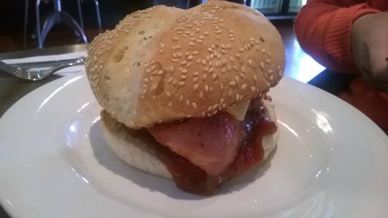 Burger Got Soul: Slamb - lean lamb burger, cheese, bacon, soul mayo and relish