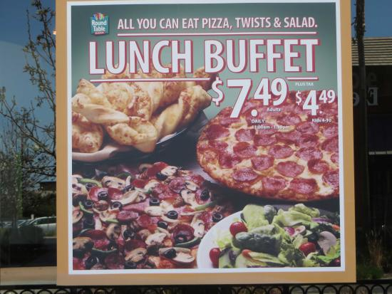 Lunch Buffet Special Picture Of Round Table Pizza Moreno Valley - Round table lunch special