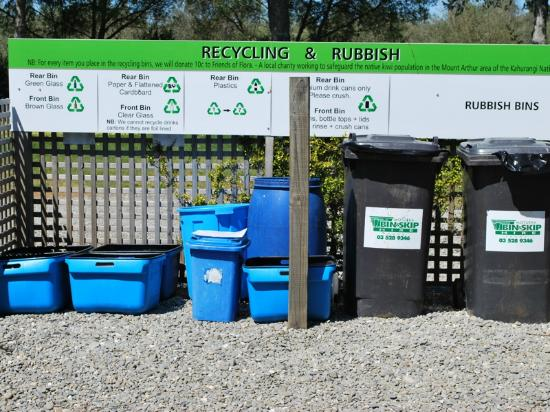 Fernwood Holiday Park: Excellent recycling practices, including composting