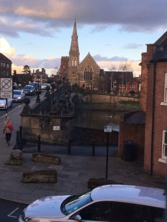 Lion + Pheasant Hotel: View to Shrewsbury