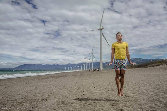 Bangui Windmills : the wind was so strong i was levitating almost! haha
