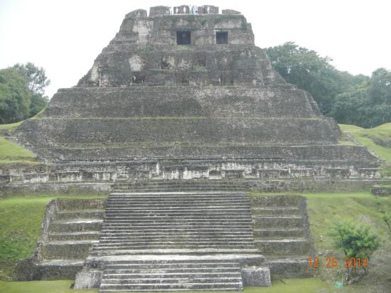 Belize Magnificent Mayan Tours : Xunantunich, you get to climb to the top!