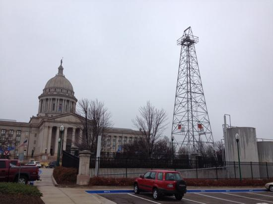 oil rig on southside of capitol picture of state capitol oklahoma rh tripadvisor com