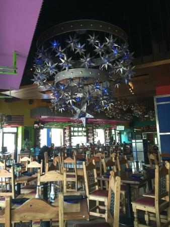 The chandelier in the main dining area - Picture of Cabo Flats ...