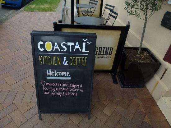 Coastal Kitchen and Coffee: Street signage