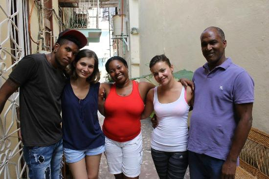 Casa Particular Ana y Chuchi: Rey, Tena, Ana, me and Chuchi